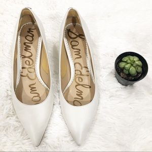 Sam Edelman White Pointy Toe Heels size 7M